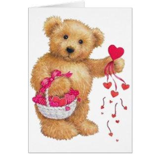 Distribución del amor tarjeta de felicitación