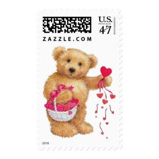 Distribución del amor timbres postales