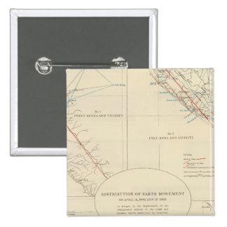 Distribución del movimiento de tierra en Californi Pin Cuadrado