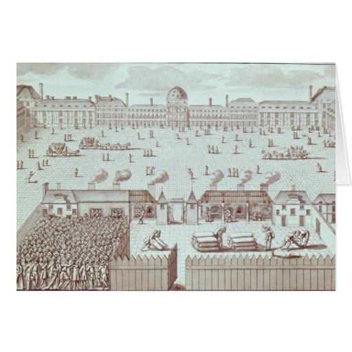 Distribución del pan en el quiosco de Tuileries Tarjeta De Felicitación