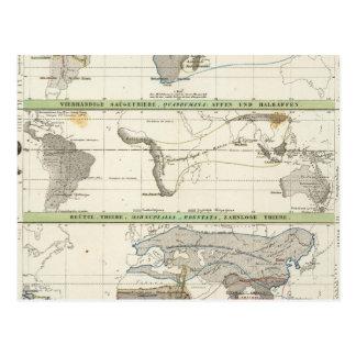Distribución geográfica tarjetas postales