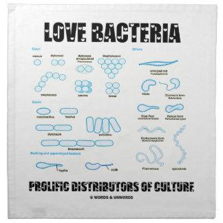 Distribuidores prolíficos de las bacterias del amo servilletas imprimidas