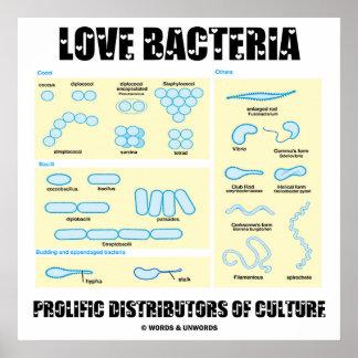 Distribuidores prolíficos de las bacterias del póster