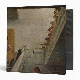 Distributing Milk at St. Lazare Prison, 1794 3 Ring Binder