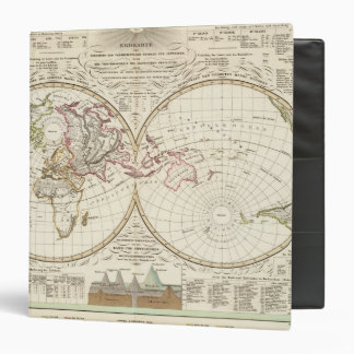 Distribution Map of Rivers and Mountains 3 Ring Binder