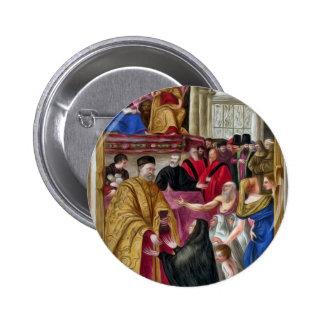 Distribution Of Alms Button