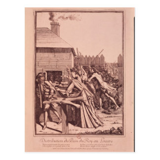 Distribution of Bread at the Louvre Postcard