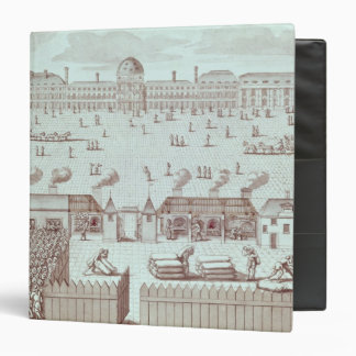 Distribution of Bread at the Tuileries Kiosk 3 Ring Binder