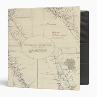Distribution of earth movement in California 3 Ring Binder