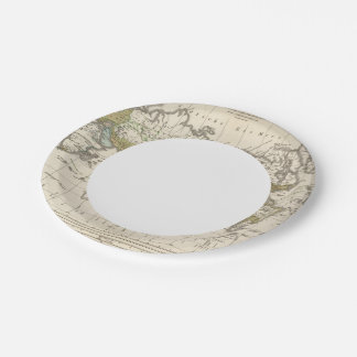 distribution of Indo Germanic people 7 Inch Paper Plate