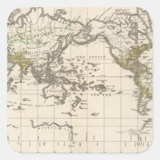 distribution of Indo Germanic people Square Sticker