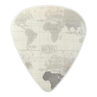Distribution of rodents and animals acetal guitar pick