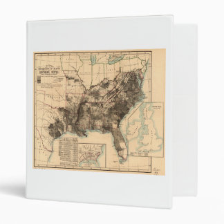 Distribution of Slaves in Southern States Map 1860 3 Ring Binder