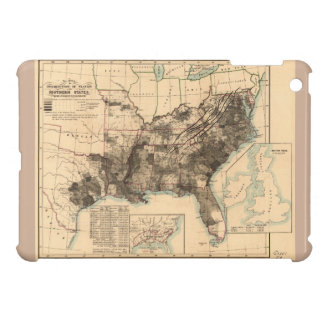 Distribution of Slaves in Southern States Map 1860 Cover For The iPad Mini