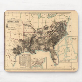 Distribution of Slaves in Southern States Map 1860 Mouse Pad