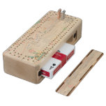 Distribution plants maple cribbage board