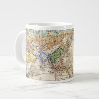 Distribution primitive du genre humain large coffee mug