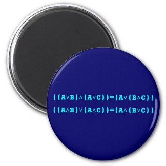 Distributivgesetz lógica distributiva law logic imán redondo 5 cm