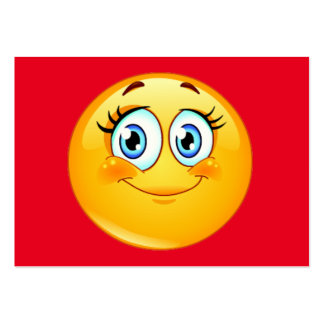 ¡Distribuya una sonrisa! por SRF Tarjetas De Visita Grandes