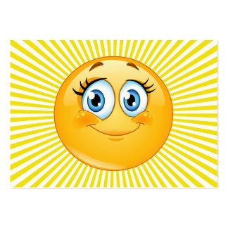 Distribuya una sonrisa tarjetas de visita grandes