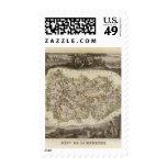 District boundaries postage stamps