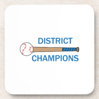 DISTRICT CHAMPIONS DRINK COASTERS
