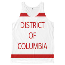 District of Columbia All-Over Printed All-Over-Print Tank Top