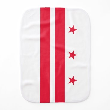 USA Themed District of Columbia Baby Burp Cloth
