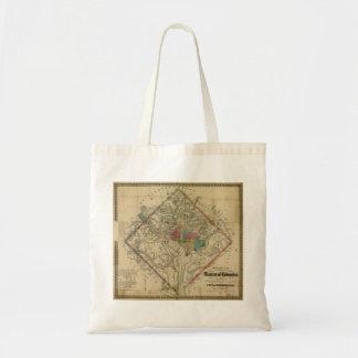 District of Columbia Civil War Era Map Canvas Bags