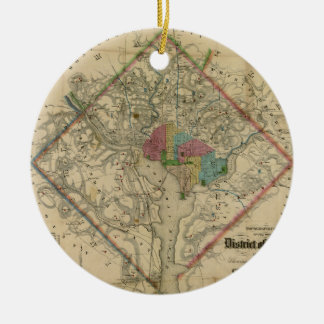 District of Columbia Civil War Era Map Ceramic Ornament