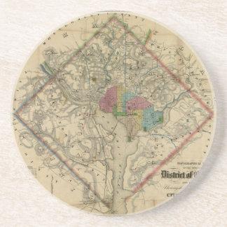 District of Columbia Civil War Era Map Drink Coaster