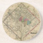 "District of Columbia Civil War Era Map Sandstone Coaster<br><div class=""desc"">District of Columbia Civil War Era Map</div>"