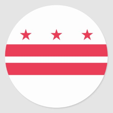 USA Themed District of Columbia Classic Round Sticker