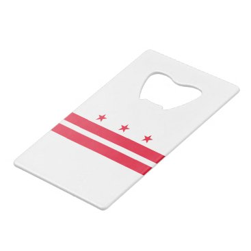 USA Themed District of Columbia Credit Card Bottle Opener
