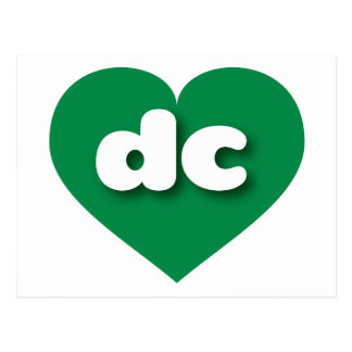 District of Columbia dc green heart Postcard