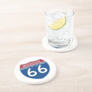District of Columbia DC I-66 Interstate Shield - Drink Coaster