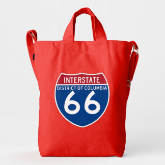 District of Columbia DC I-66 Interstate Shield - Duck Bag