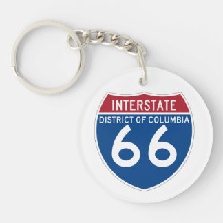 District of Columbia DC I-66 Interstate Shield - Keychain