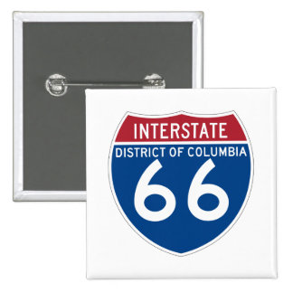 District of Columbia DC I-66 Interstate Shield - Pinback Button