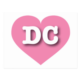 District of Columbia DC pink heart Postcard