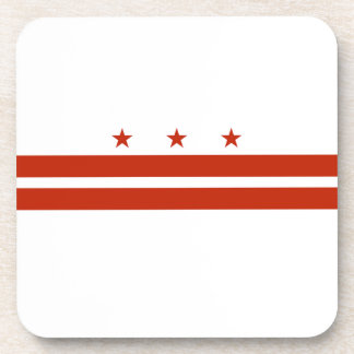 District of Columbia Flag Beverage Coaster