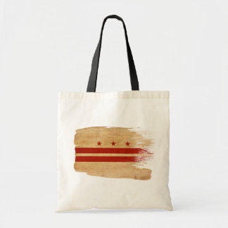 District of Columbia Flag Canvas Bags