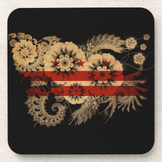 District of Columbia Flag Coaster