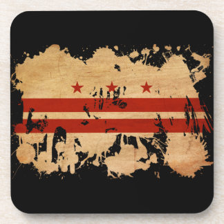 District of Columbia Flag Drink Coaster