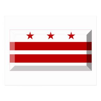 District of Columbia Flag Gem Postcard