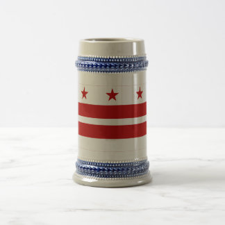 District of Columbia Flag Coffee Mugs