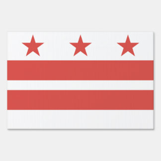 DISTRICT OF COLUMBIA Flag Pattern Lawn Sign
