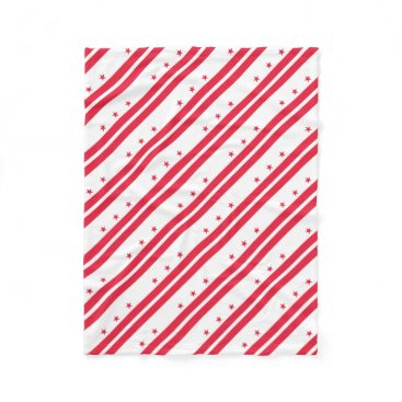 USA Themed District of Columbia Fleece Blanket