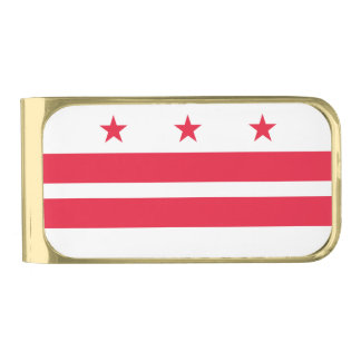 District of Columbia Gold Finish Money Clip