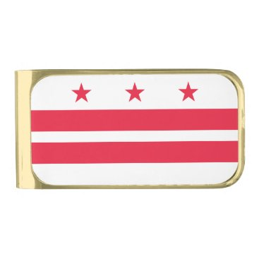 USA Themed District of Columbia Gold Finish Money Clip